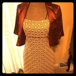Mira couture dress w/ cape